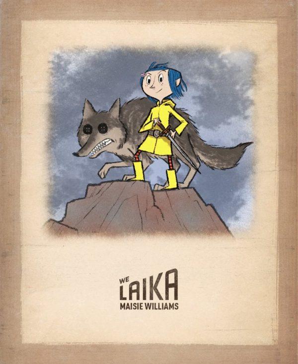 Coraline Arya Stark 600x734 1 - Confira arte de crossover entre Coraline e Arya Stark
