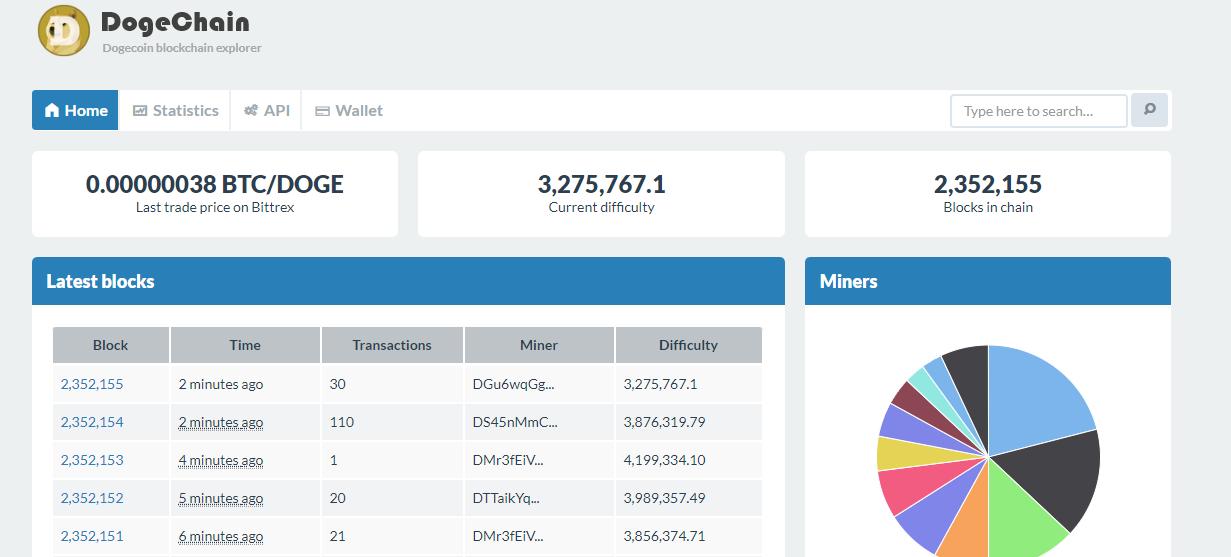 FireShot Capture 250 Dogechain The official dogecoin blockchain explo  https   dogechain.info  - Ganhe Dólares por hora com Dodge Coin