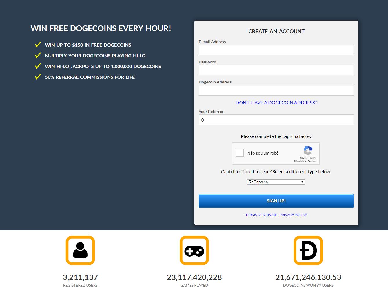 FireShot Capture 252 FreeDoge.co .in Win free dogecoins every hour https   freedoge.co .in  - Ganhe Dólares por hora com Dodge Coin