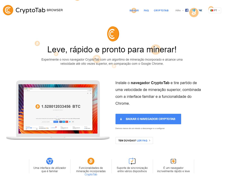 FireShot Capture 260 Obtenha o CryptoTab Browser Forma Fác  https   get.cryptobrowser.site pt  - Ganhe Bitcoins apenas navegando na internet   Cryptobrowser Funciona?