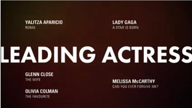 atriz - Indicados ao Oscar 2019