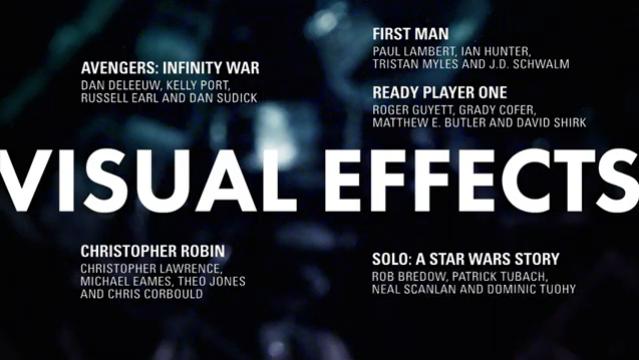 efeitos - Indicados ao Oscar 2019