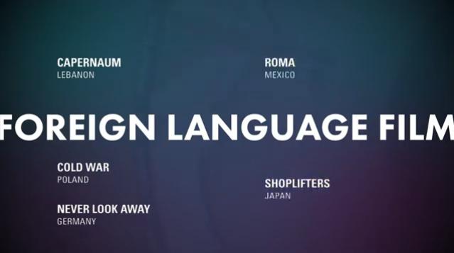 lingua estrangeira - Indicados ao Oscar 2019