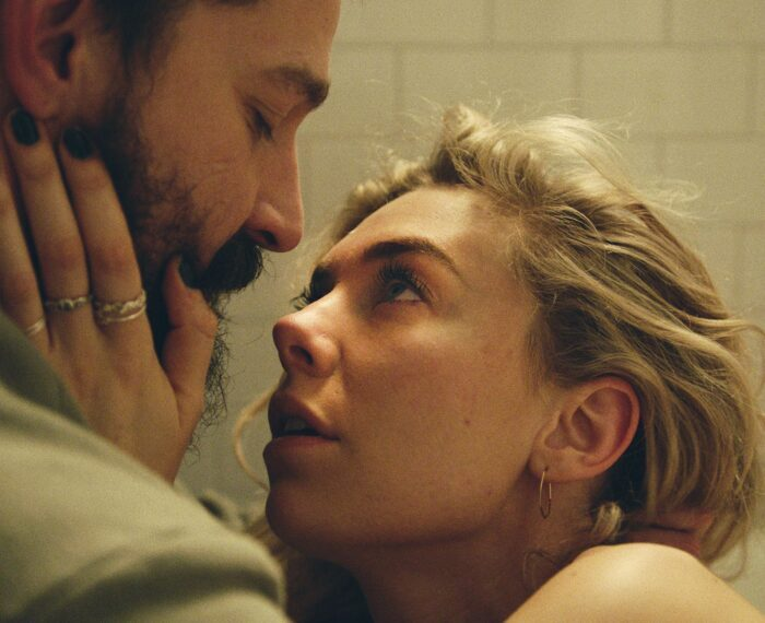PIECES OF A WOMAN: (L to R) Shia LeBeouf as Sean and Vanessa Kirby as Martha
